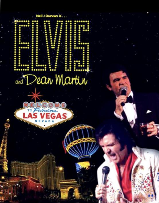 Elvis and Dean Martin tribute at the Aviator